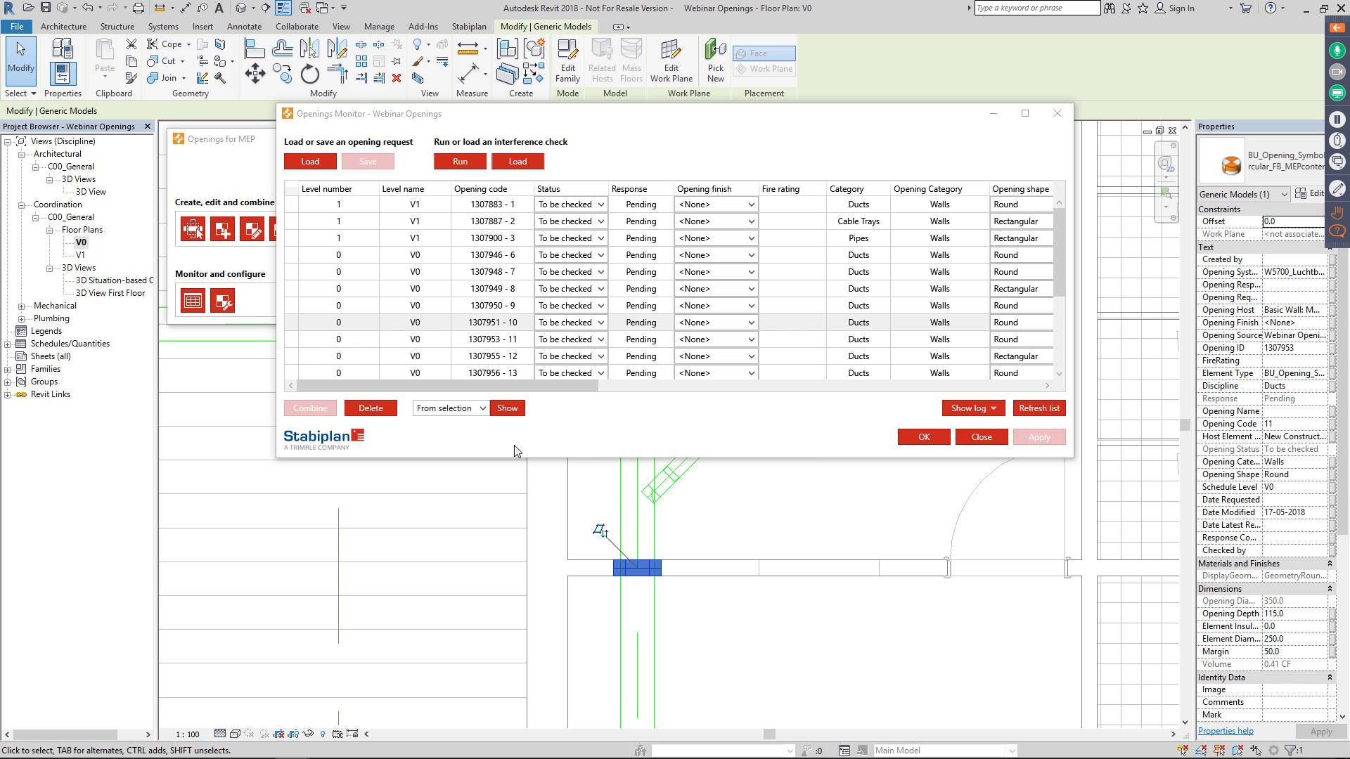 Openings for MEP App for Revit 1 5 1 5 Download - ArchSupply com